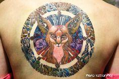 Fennec Fox Tattoo by Nika Samarina @ Samarina Studio in Moscow, Russia - TattooBlend