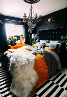 7 Simple and Crazy Ideas Can Change Your Life: Vintage Home Decor Chic Chandeliers classic vintage home decor coffee tables.Classy Vintage Home Decor Man Cave vintage home decor bedroom offices.Vintage Home Decor Boho. Home Decor Bedroom, Master Bedroom, Bedroom Ideas, Black Bedroom Walls, Leopard Bedroom, Dark Bedrooms, Western Bedroom Decor, Black Bedroom Decor, Dark Home Decor