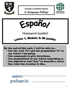 listos 2 homework booklet