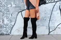 These Zara over the knee boots have a chunky heel, come in real suede, AND sold for under $160. Heart MELT. <3