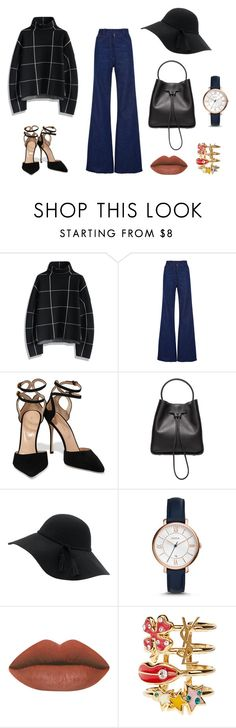 """""""Untitled #195"""" by shellynrl27 on Polyvore featuring Chicwish, Natasha Zinko, Sergio Rossi, 3.1 Phillip Lim, FOSSIL and Yves Saint Laurent"""