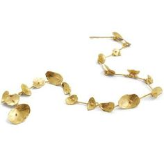 Shimara Carlow - 18ct Gold Honesty Neckpiece 18ct gold 70cm long, petals are 10mm -20mm long