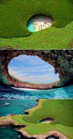 Playa Escondida, en las Islas Marietas (Nayarit)