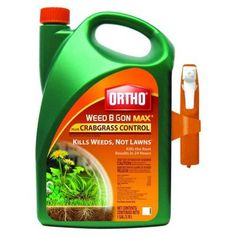 DO NOT USE ANY post-emergent weed control for existing mature weeds in the middle of summer as it harms grass! Should have had preemergent down instead anyway. Best post-emergent weed control that won't harm Bermuda grass. USE IN SPRING/VERY EARLY SUMMER, FALL OR WINTER ONLY!!!! Ortho 1 gal. Ready-to-Use Weed B Gon Max Plus Crabgrass Control-0423810 - The Home Depot