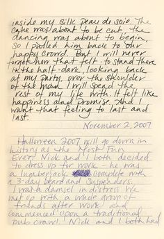 amy dunne diary entries | gone girl