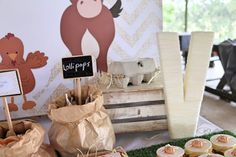 Decor and Sweets from a Farmyard Birthday Party via Kara's Party Ideas   KarasPartyIdeas.com (7)