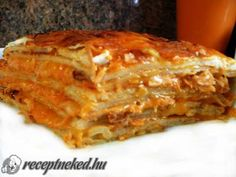 Rakott húsos palacsinta Lasagna, Turkey, Mille Crepe, Ethnic Recipes, Crepes, Dutch, Pancakes, Food, Chicken
