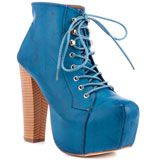 Blue chunky wedges, love
