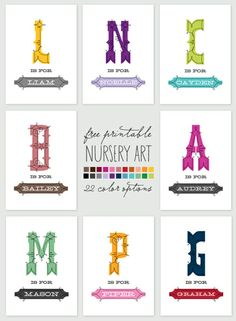 Ready, Set, Print! Free Art for Baby | Chic & Cheap Nursery™
