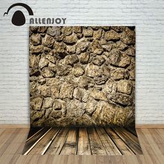 >> Click to Buy << Allenjoy Backgrounds filming Stone wall Wooden floor retro professional camera photography vinyl backdrops #Affiliate