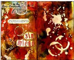 Viernes #ArtJournal - Manos y Mente Art Journaling. Experimentar sin miedo