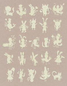 Paper art by Elsa Mora. (miniatures)