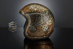 Steampunk Tendencies | Custom motorcycle helmet STEAMPUNK 1, UC 70Shell - UNEXPECTED CUSTOM