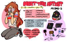 i did a meet the artist thing Amazing Drawings, Cool Drawings, Amazing Art, Character Inspiration, Character Art, Universe Art, Wow Art, Art Reference, Anatomy Reference