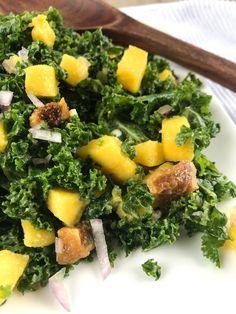 Creamy Kale Salad with Mango & Figs