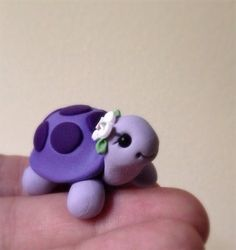 Violet by theaircastle on Etsy Polymer Clay Kunst, Polymer Clay Figures, Polymer Clay Animals, Fimo Clay, Polymer Clay Charms, Polymer Clay Projects, Polymer Clay Creations, Clay Crafts, Polymer Clay Turtle
