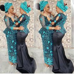 One luv. African Wedding Attire, African Attire, African Wear, African Dresses For Kids, African Lace Dresses, African Fashion Ankara, Latest African Fashion Dresses, Lace Skirt And Blouse, African Lace Styles