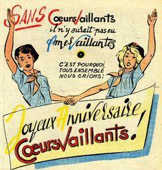 Affiche 1954 Coeurs Vaillants 25 ans