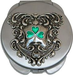 Purse Mirror with Shamrock great gift for the Irish!