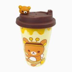 Amazon.com: Ddoai Rilakkuma Bear Anti-leak Ceramic Coffee Mug Coffee Cup: Kitchen & Dining