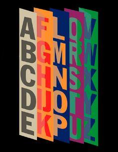 Alphabet No. 14 Franklin Gothic Vertical.
