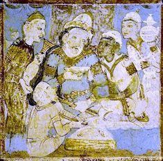 Ajanta Cave 1 Group of foreigners - Kushano-Sasanian Kingdom - Wikipedia History Of India, Asian History, Thirty Rock, Parthian Empire, Ajanta Caves, Harappan, Sassanid, Achaemenid, States Of India