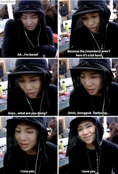 Rapmon missing BTS especially his babies but regrets it after they came XD 1/2