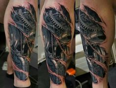 Biomechanical Tattoos That Look Real | Pinned by Jeff Hatzenbuehler