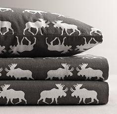 Moose Flannel Sheet Set $139