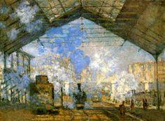 "Claude Monet ""La gare Saint-Lazare"" 1877, olio su tela"