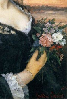 Portrait of Laure Borreau (detail), by Gustave Courbet (French, Gustave Courbet, Flower Fashion, Women's Fashion, Growing Flowers, Writing Inspiration, Artist Art, In This World, Portrait, Detail
