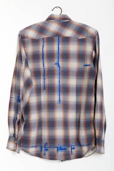 Celia Pym Rik's Shirt, owner's shirt and cotton embroidery, 68 x 57cm, 2010