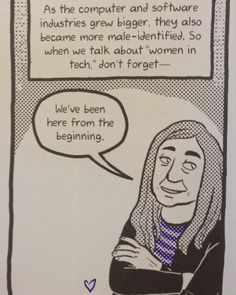 Computer scientist Margaret Hamilton is the star of the Adventures in Feministory comic in the Nerds issue of Bitch.  Fabulous art by #ronnieritchie. by bitchmedia