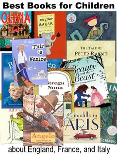 Best books for kids about European countries: England, France and Italy
