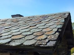 Old slate roof in Valdres