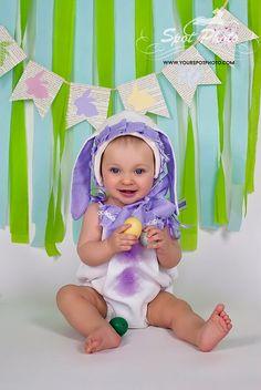 Baby Girl Bunny Set Easter bunny romper set by LeopardontheHOOK
