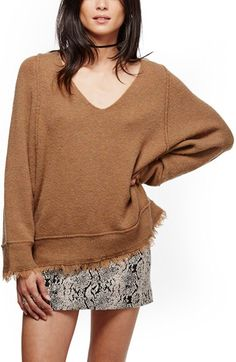 Free People Free People Irresistible Fringe Trim Sweater available at #Nordstrom