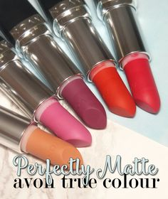 I Know all the Words: Avon True Colour Perfectly Matte Lipsticks