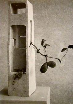 """Isamu Noguchi  Ikebana by Teshigahara Sofu in  """"Lonely Tower""""  1952"""