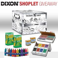 Shoplet.com is giving away a Treasure Chest sponsored by Dixon! Here's how to win: Follow Shoplet on Pinterest, repin this post, go to the Shoplet Blog before August 5th & tell us why you want this amazing