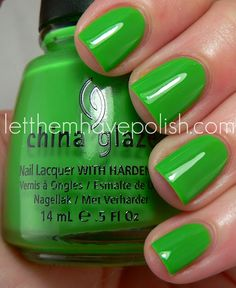Electropop Collection from China Glaze...Crazy about this green!