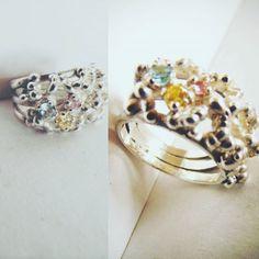 Se viene la primavera :3 #silverrings #stone #colorful #spring #modernjewellery #Italia