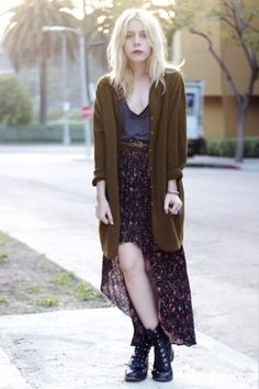 grungy outfit with combat boots