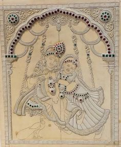 Excited to share this item from my shop: Sitting Radha krishna Muck board kit Kerala Mural Painting, Tanjore Painting, Krishna Painting, Outline Drawings, Art Drawings, Fairy Pictures, Mirror Art, Traditional Paintings, Indian Paintings