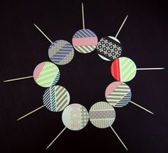Washi tape ideas from Pizzazzerie Washi Tape Uses, Masking Tape, Tape Crafts, Diy And Crafts, Duck Tape, Duck Duck, 1st Birthday Parties, Birthday Ideas, How To Make Cupcakes
