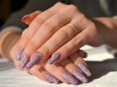Nail Art Arabesques et Strass