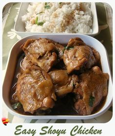 Here& an easy shoyu chicken recipe that& tasty and simple to make. Get more favorite island style recipes here. Shoyu Chicken Recipe Hawaii, Chicken Recipes Filipino, Fried Chicken Recipes, Asian Recipes, Healthy Recipes, Guam Recipes, Filipino Food, Chamorro Recipes, Soy Chicken