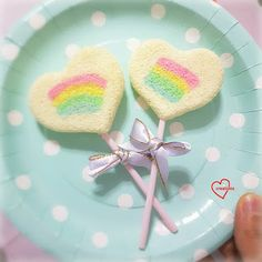 "Loving Creations for You: ""Rainbow in my Heart"" Yuzu Chiffon Cake Pops"