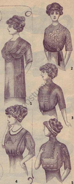 1910-1920   История костюма Матине и корсаж женские. Мода в России начала 1910 годов