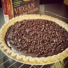 Cashew Chocolate Mousse Pie from our December VegCookbook, Vegan Holiday Kitchen.